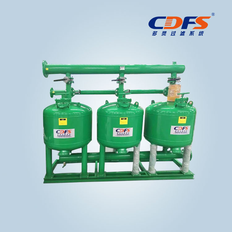 Manual backwash sand filter