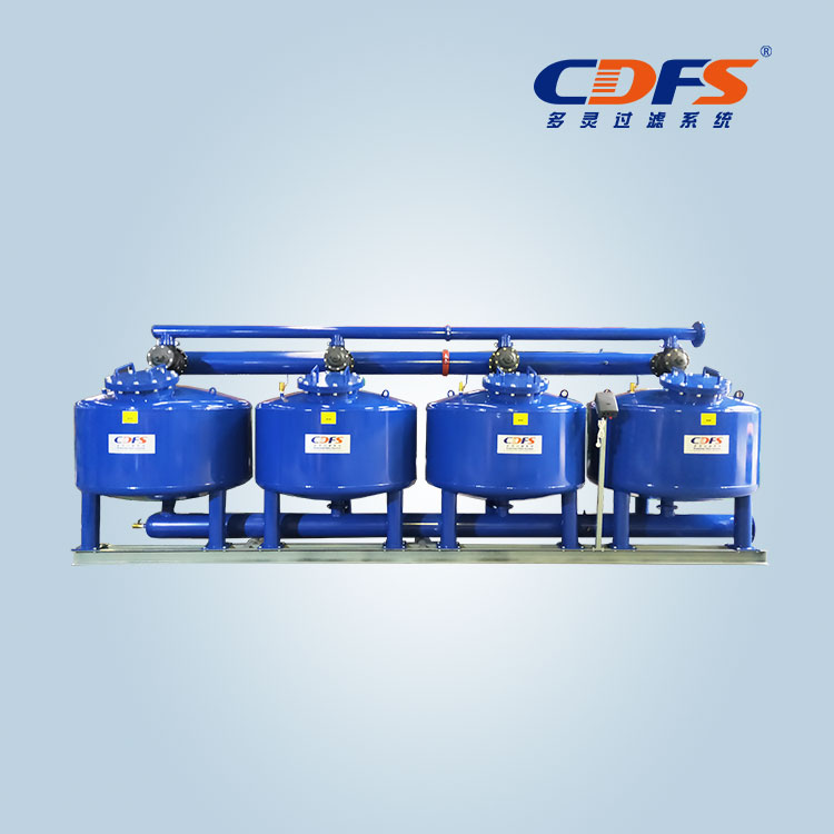 Four vessels automatic sand filter